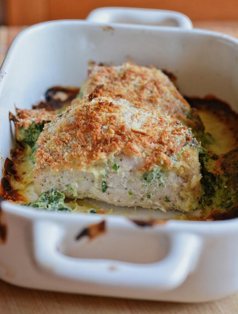 Pierś kurczaka ze szpinakiem i serem ricotta 2